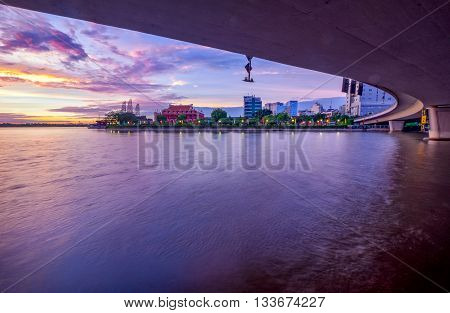 Enjoy the Nha Rong wharf and Ben Nghe canal sunrise in Ho Chi Minh City