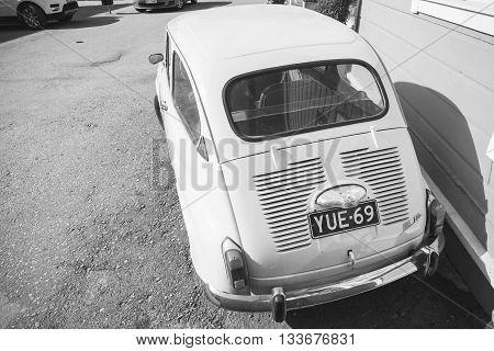 Old Fiat 600, Italian City Car, Rear View