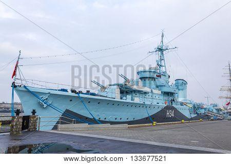 GDYNIA, POLAND - NOVEMBER 21: Polish destroyer