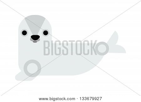 Sea cow manatee cartoon illustration isolated white and vector sea cow animal. Marine sea cow ocean animal and sea cow ocean underwater manatee diving tropical mammal. Beauty ecosystem animal.