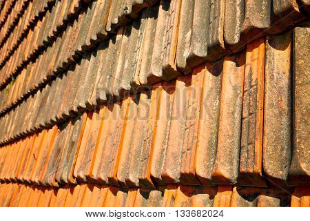 Old Roof In Italy The Line And