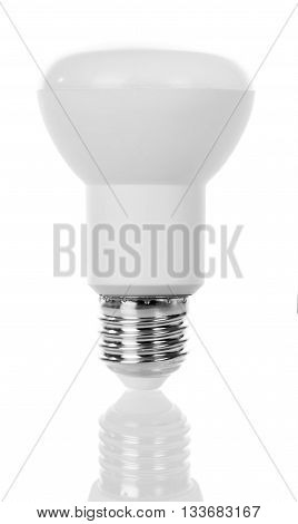 LED spot lamp closeup isolated on white background.