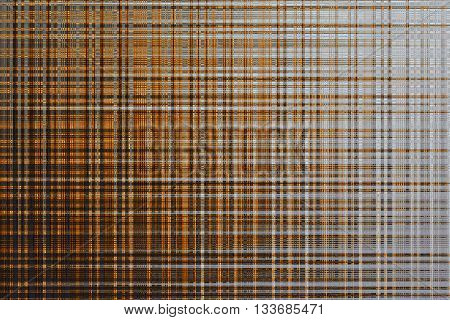 yellow black abstract textured background with stripes and checks. imitation fabric