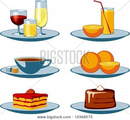Food Icons drinks and sweets