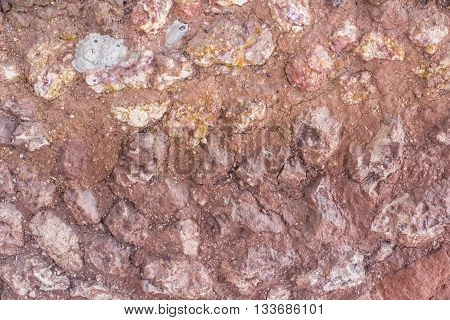 The image of rough ground beef reddish-brown rock mass inserted.