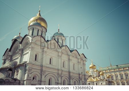 Assumption Cathedral of Moscow Kremlin in Russia.