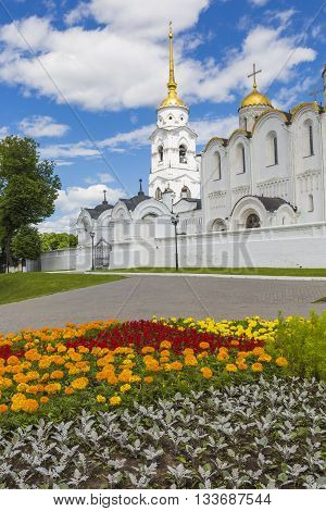 Vladimir - June 05, 2016 :assumption Cathedral At Vladimir In Summer, Unesco World Heritage Site, Vl