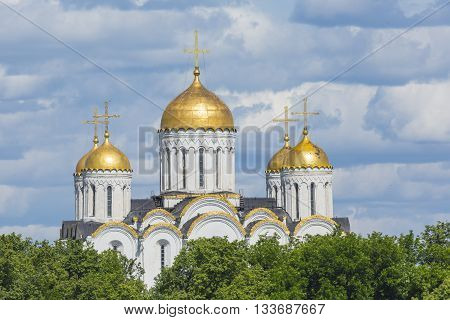 Assumption Cathedral At Vladimir In Summer, Unesco World Heritage Site, Vladimir, Russia.