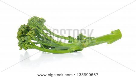 Baby Broccoli isolated on a white background.
