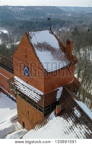 Turaida Castle Is A Recently Reconstructed Medieval Castle In Turaida, In The Vidzeme Region Of Latv
