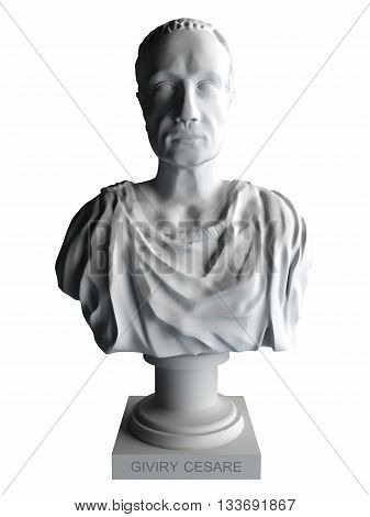 3D rendering Cesare isolated on white background