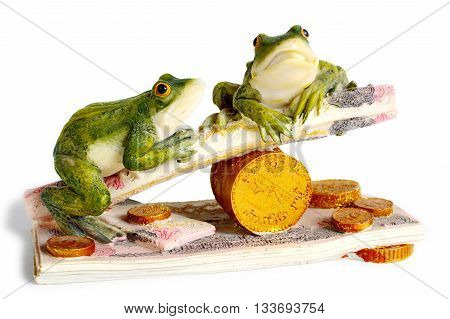 Money toad. Amulet to attract money. Feng Shui
