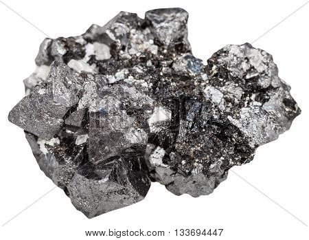 Druse Of Big Crystals Of Magnetite Mineral Stone