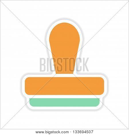 paper sticker on white  background seal stamp
