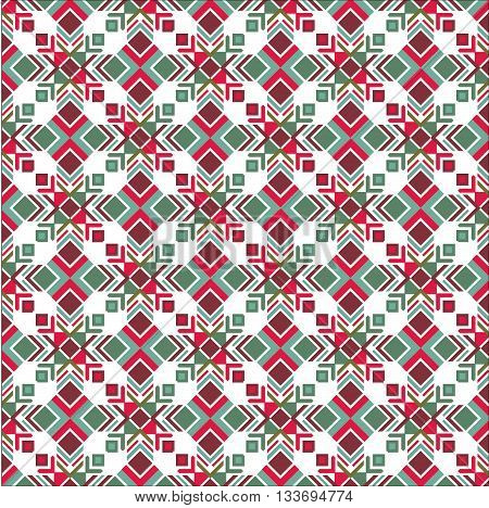 Vector colored seamless texture Indian motif. Christmas texture for wrapping