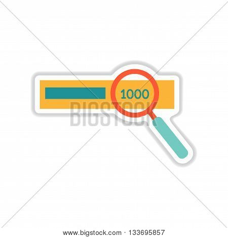 paper sticker on white  background money search