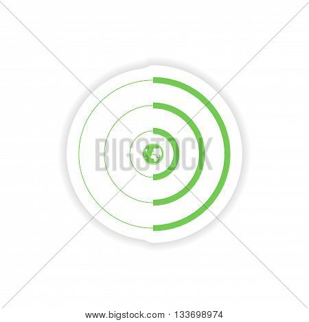 paper sticker on white background   global coverage