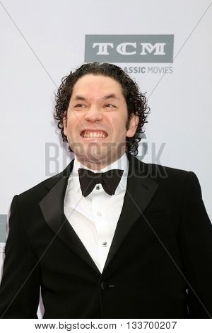 LOS ANGELES - JUN 9:  Gustavo Dudamel at the American Film Institute 44th Life Achievement Award Gala Tribute to John Williams at the Dolby Theater on June 9, 2016 in Los Angeles, CA
