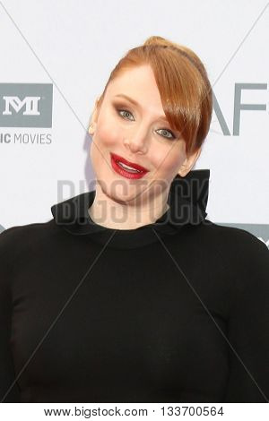 LOS ANGELES - JUN 9:  Bryce Dallas Howard at the American Film Institute 44th Life Achievement Award Gala Tribute to John Williams at the Dolby Theater on June 9, 2016 in Los Angeles, CA