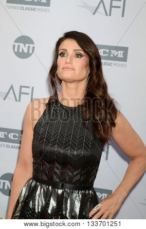 LOS ANGELES - JUN 9:  Idina Menzel at the American Film Institute 44th Life Achievement Award Gala Tribute to John Williams at the Dolby Theater on June 9, 2016 in Los Angeles, CA