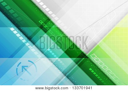 Abstract Vector Futuristic Background. Lines And Arrow.