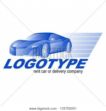 Car rent repair or delivery service label. Vector logo design template.