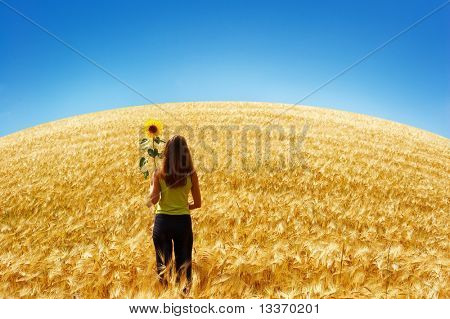 young woman looking at horizon
