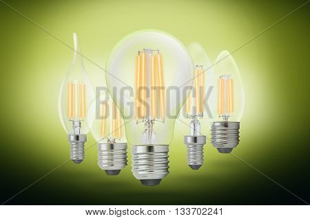 LED filament light bulb Pure White 4000K.