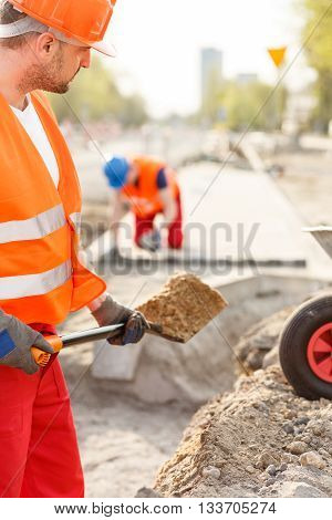 Worker With A Spade