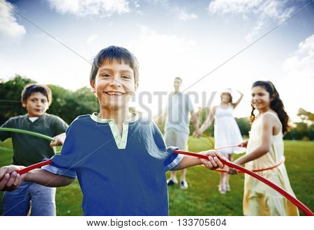 Family Bonding Happiness Lifestyle Concept