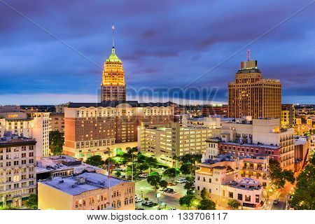 San Antonio, Texas, USA downtown city skyline.