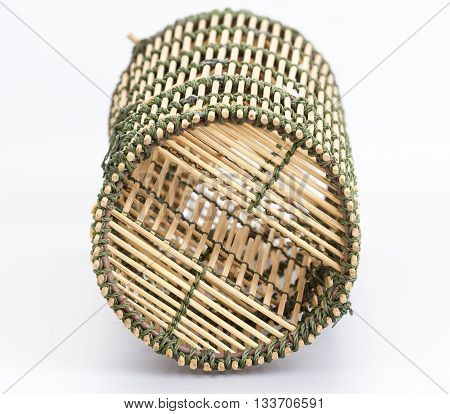 Bamboo fish-trap with a narrow neck - Thai traditional fishery tool