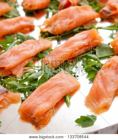 Smoked Salmon  On The Buffet