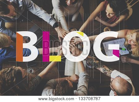 Blog Connecting Content Homepage Information Concept