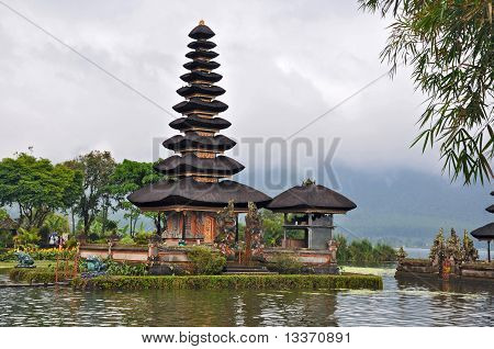 Beautiful Balinese Pura Ulun Danu Temple On Lake Bratan.