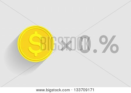 Stack of gold coins with dollar sign as element of financial business-formula. Tax percentage profit interest and other economic indicators
