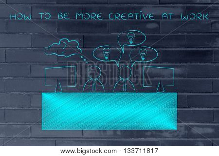 Worker With Plenty Of Ideas And Doubtful Colleague, Be Creative