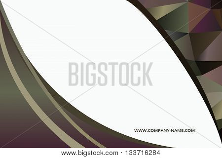 Background concept design for brochure or flyer abstract vector illustration. Circle with wawes