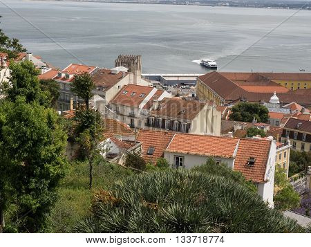 the Castle of sao Jorge in lisbon