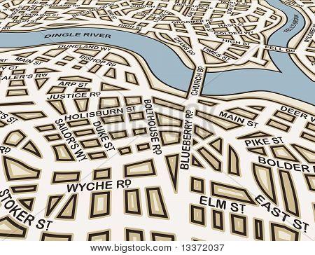 Angled Generic Streets