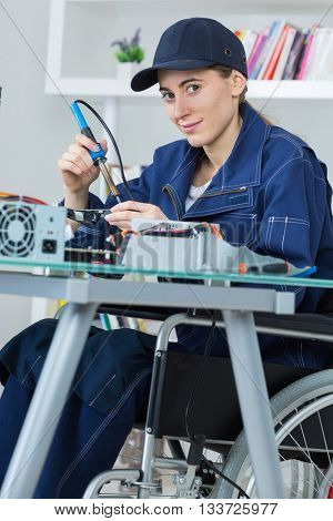 handicap electronic assembler