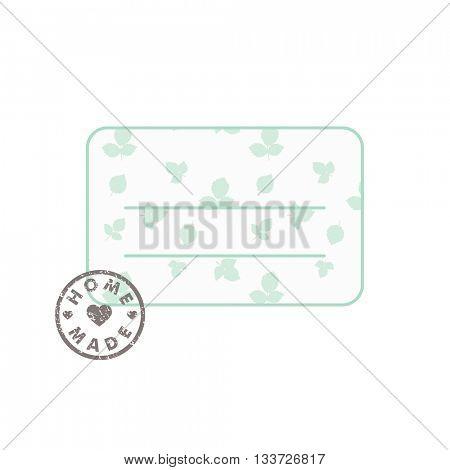 Homemade design elements - label