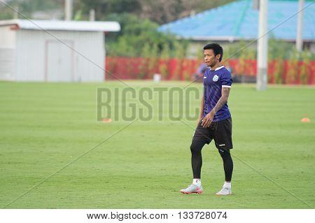 Huahin Thailand-jan26,2016 : Akekapoom Photharungrot Player Of Thaiport Fc In Action During Training