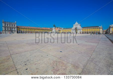 Commerce square (Praca do Comercio) in Lisbon Portugal