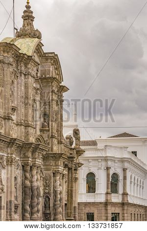Architecture At Historic Center Of Quito