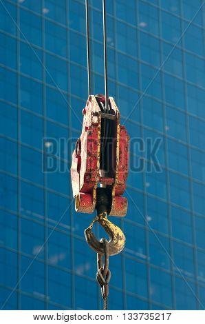 Tower crane and steel hook building metal construction