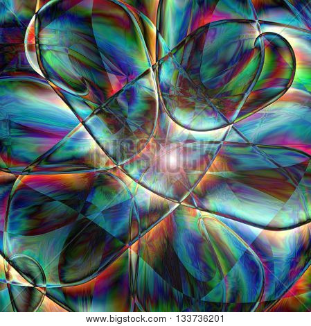 Abstract coloring horizon gradients background with visual lens flare and pinch effects