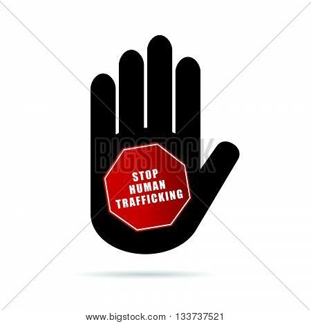 Stop Humain Trafficking Logo Illustration