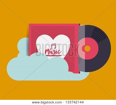 mobile music design, vector illustration eps10 graphic