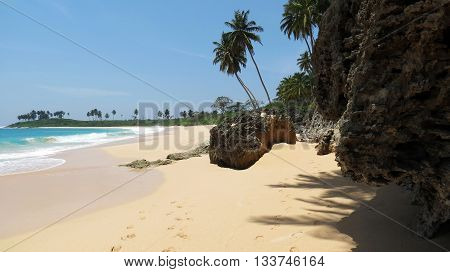 Picturesque tropical sea beach in Andaman and Nicobar Islands, India, Asia.